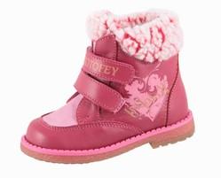 Розовые ботинки Котофей для девочки