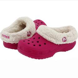 Детские кроксы с мехом Crocs Mammoth