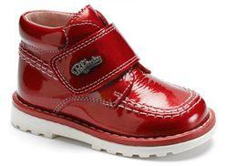 Ботинки детские лакированне красные